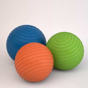 3d pilates balls