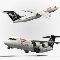 bae swiss airlines 3d model