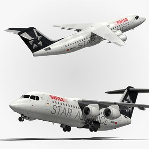 bae swiss airlines 3d model