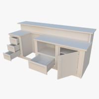 interactive kitchen bar counter 3d model