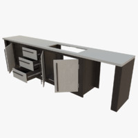 3d interactive kitchen bar counter