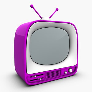3d 3ds cartoon mini toy tv