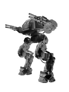 3d model of battle mech