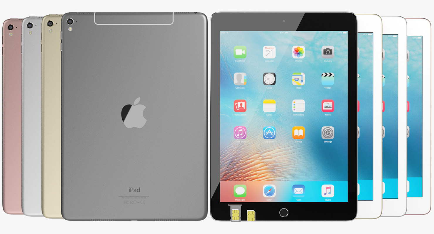 realistic apple ipad pro 3ds