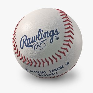 3d model baseball rawlings new