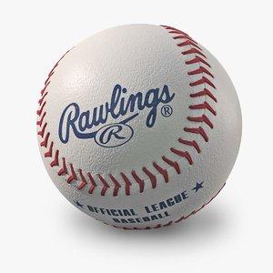 3d model baseball rawlings new