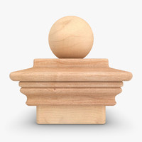 realistic nantucket finial 05 3ds