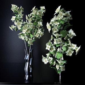 jasmine flower vase 3d obj