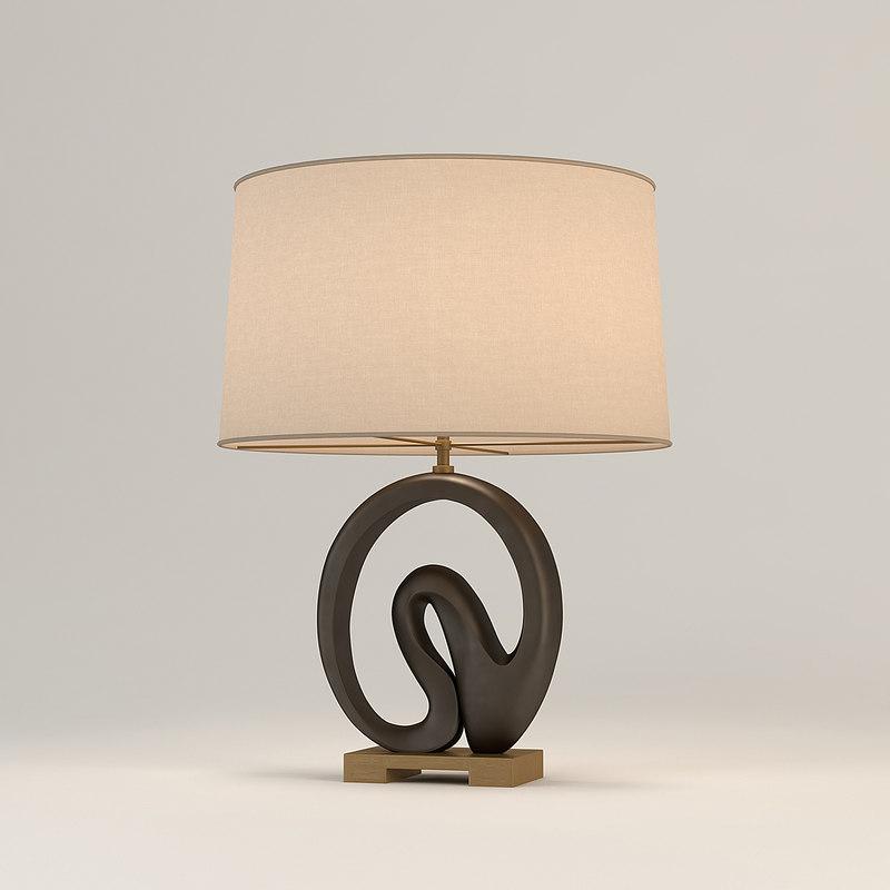 3d model baker chalcedony table lamp