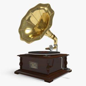 3d gramophone horne vinyl