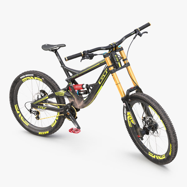 mountain bike gt fury 3d model