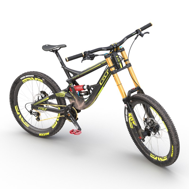 mountain bike gt fury 3d model