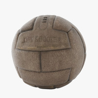 soccer vintage leather ball 3d max