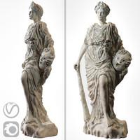 Bust of Melpomene (vray+corona)