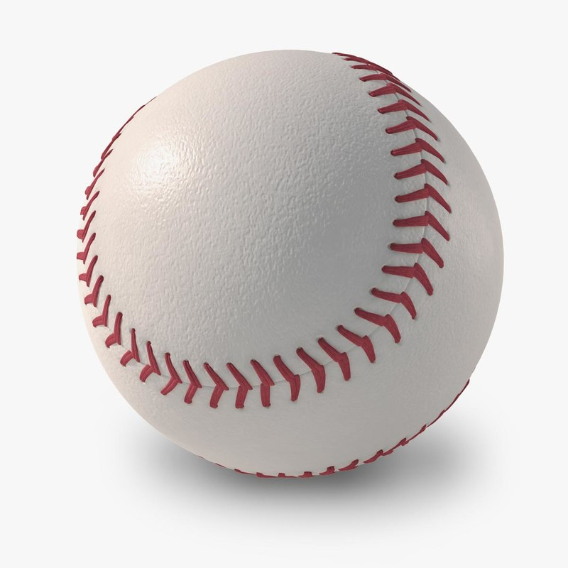 3d new baseball logo model