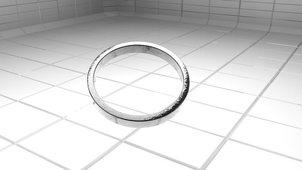 3d model classic metal ring