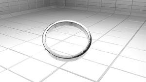 3d model classic metal ring