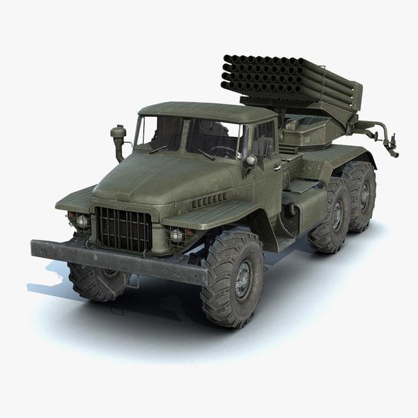 3d model low-poly bm-21 grad