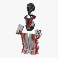 Hockey Goalie Protection Kit Red 2