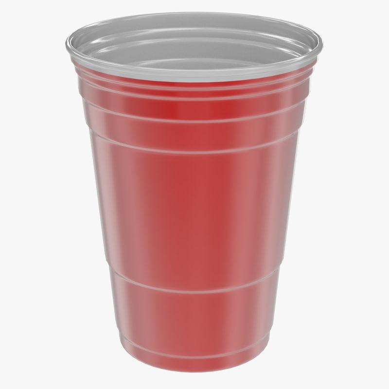 obj plastic cup