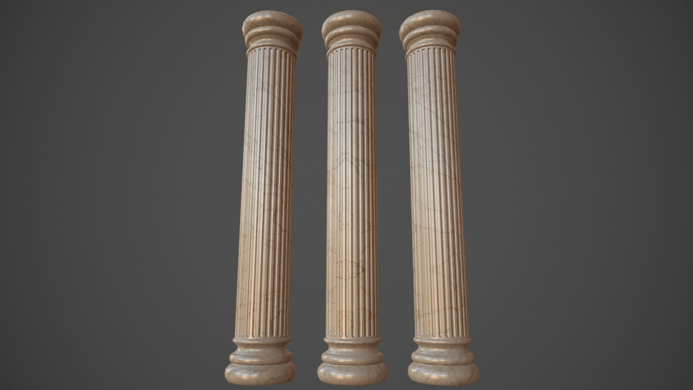 roman greek column 3d 3ds