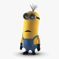 tall eyed minion pose 3d max