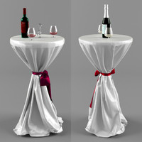 Coctail tables 3ds Max Model