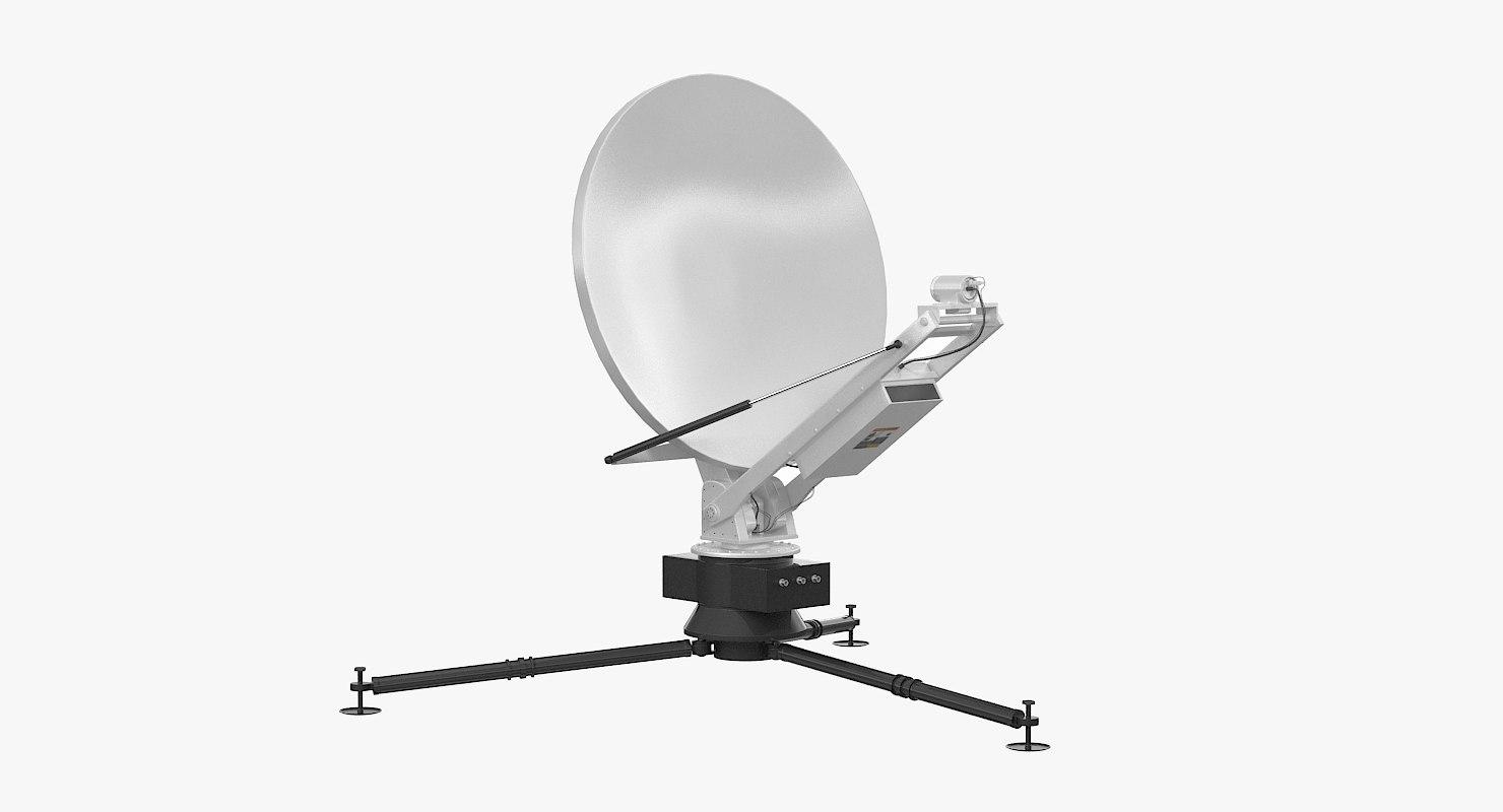 3d max tripod broadcast antenna