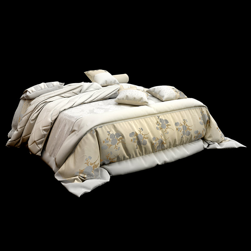 bedclothes bed cloth 3d max
