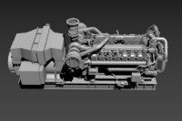 3d cat diesel engine model