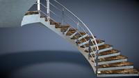 c4d circular stair