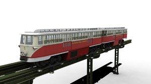 3d monorail trolley model