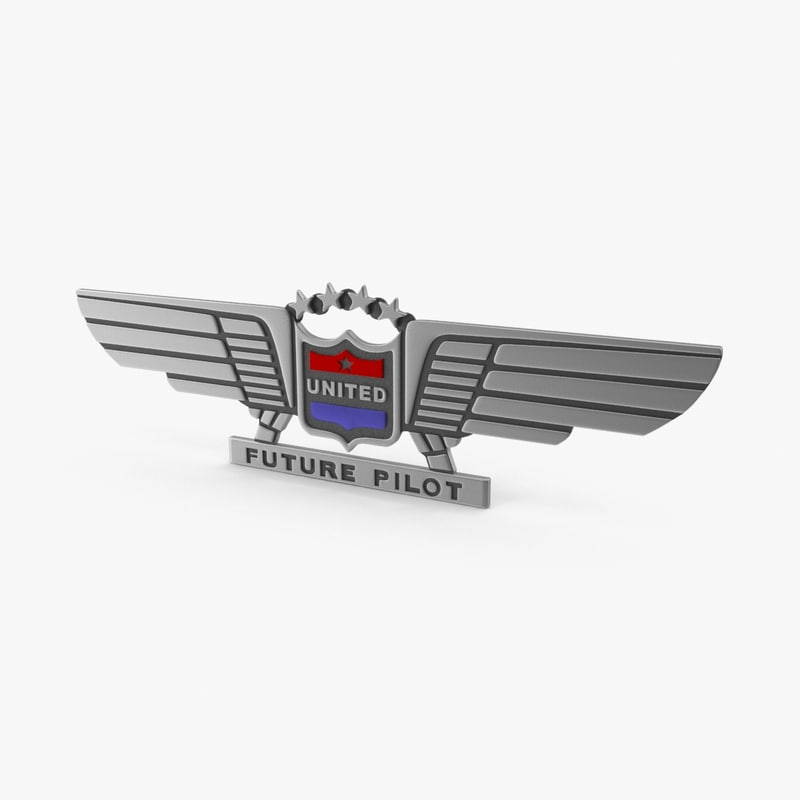 united future pilot badge 3d ma