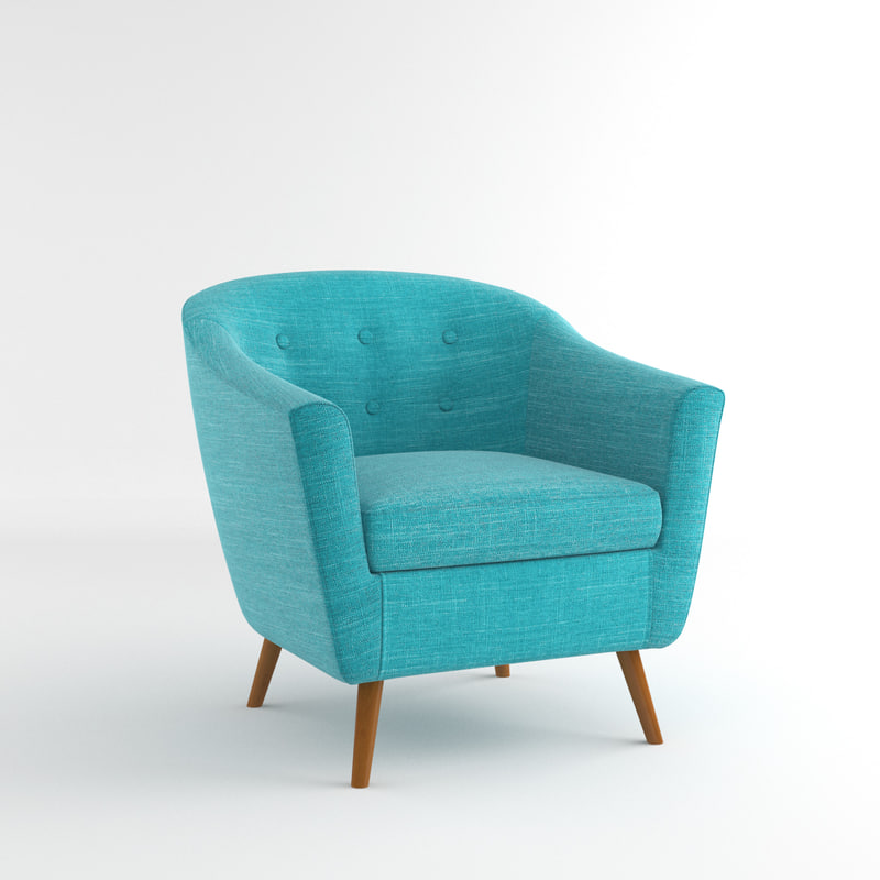 3d rockwell accent chair