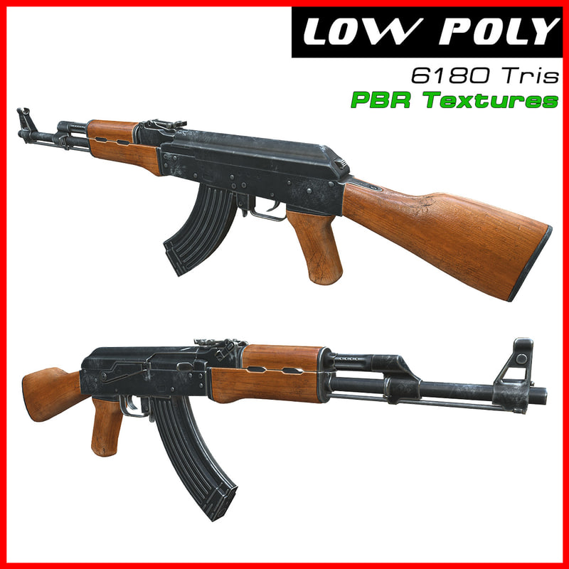 ak-47 ready games 3d max