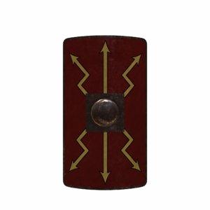 3d model gladiator shield roman