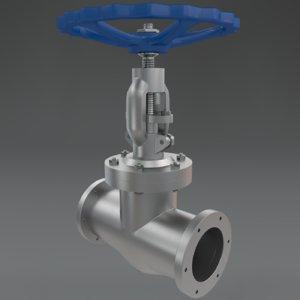 3d model gate valve 1