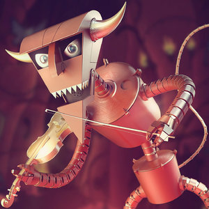 3d robot devil futurama model