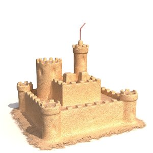 3d model of sand castle