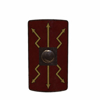 3d model gladiator shield roman