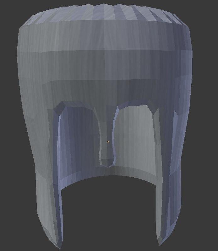 3d obj knight helmet