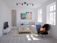 scandinavian livingroom 3d model
