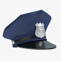 police hat 3d 3ds