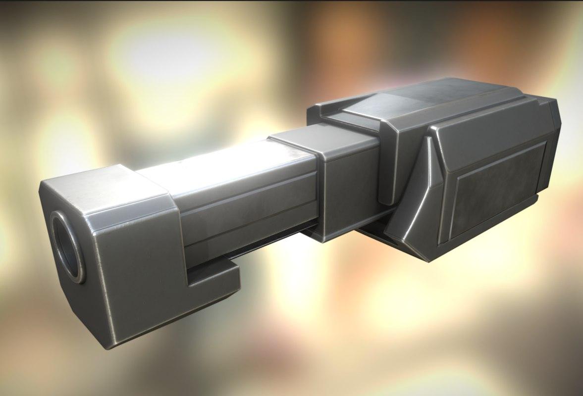 heavy gun modul 3d model