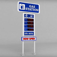 gas station price sign 3ds