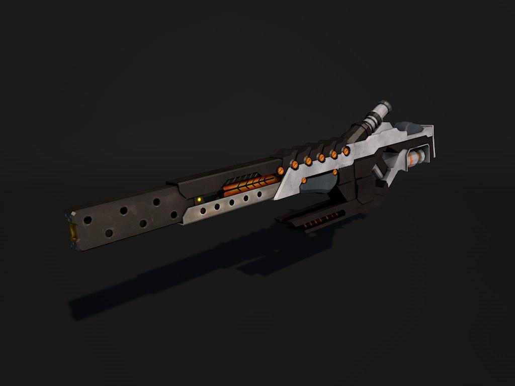 sci-fi sniper rifle 3d 3ds