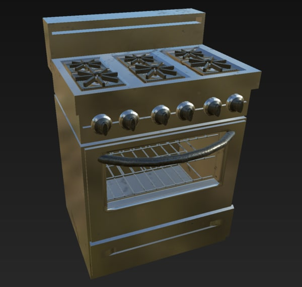 3d stove oven model