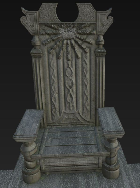 3d model throne medieval castle