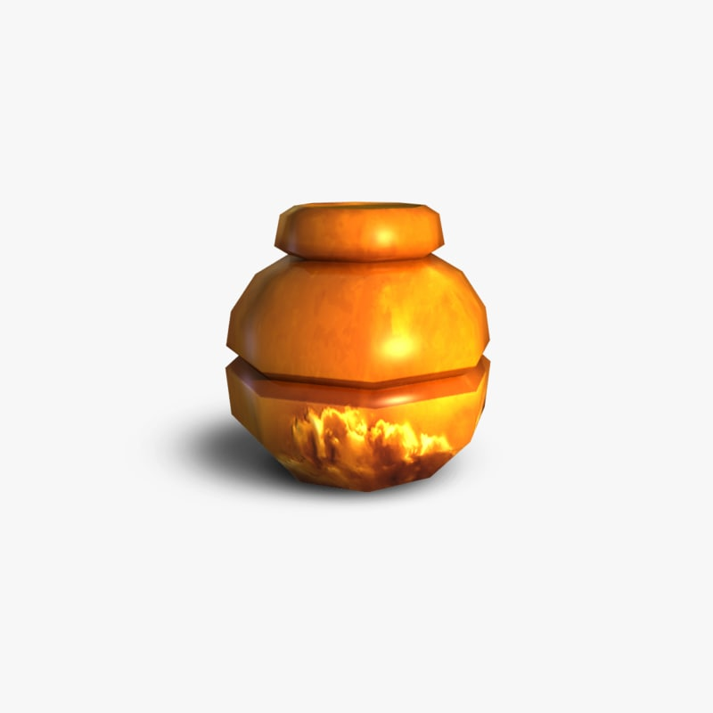 free clay sugar container 3d model