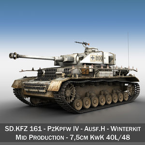 3d model german panzer 4 -